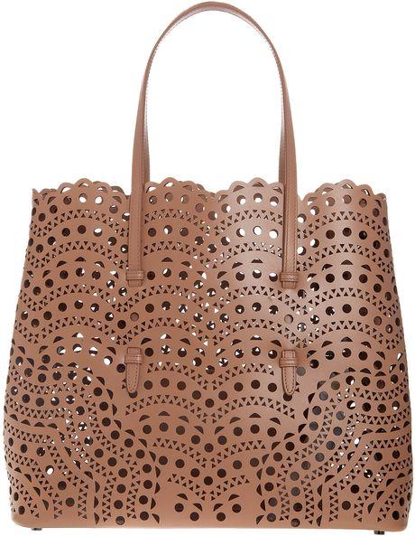 Alaia Nude leather small bucket bag ($1,425) | Best Bucket ...