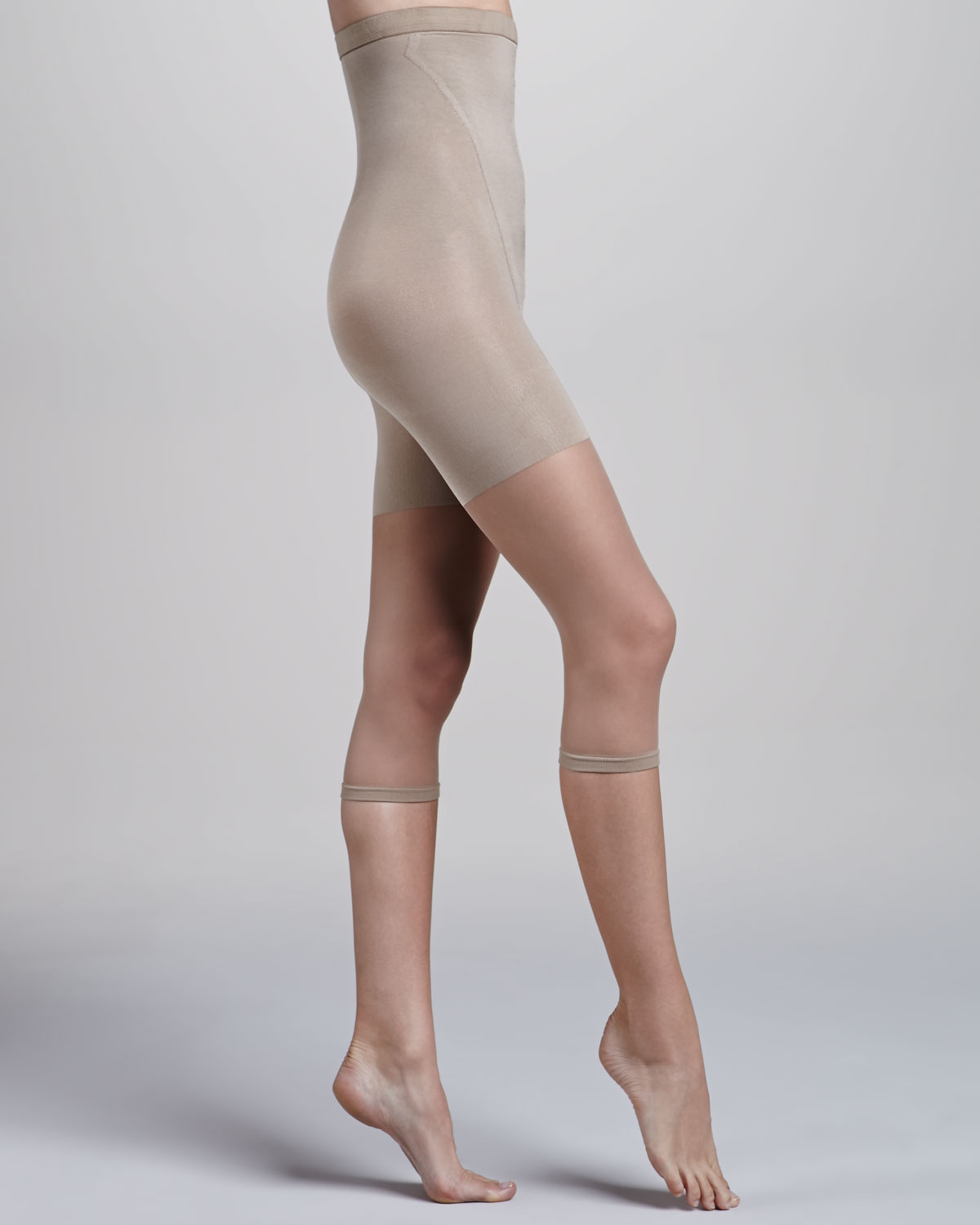 f99b0a6b7 Spanx In-Power Line Super High Footless Shaper in Natural - Lyst