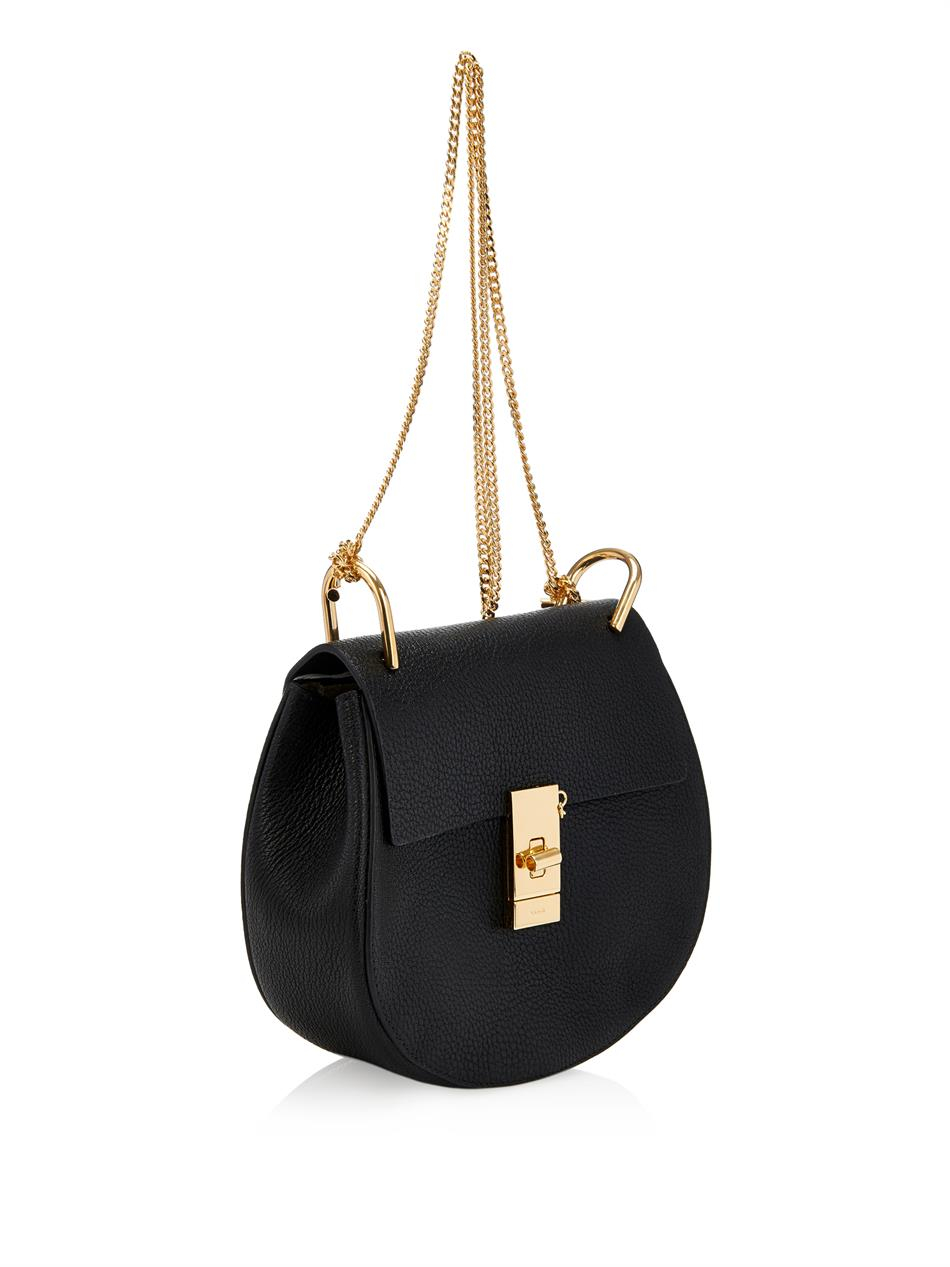 knock off chloe bags - chloe drew nano black textured leather bag