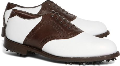 Brooks Brothers Redan Golf Shoes in Brown for Men (White-Brown