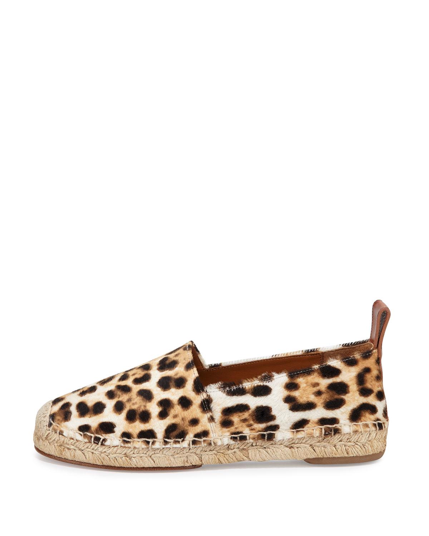 737d0cbb7d2 Lyst - Chloé Leopard-Print Calf-Hair Espadrilles