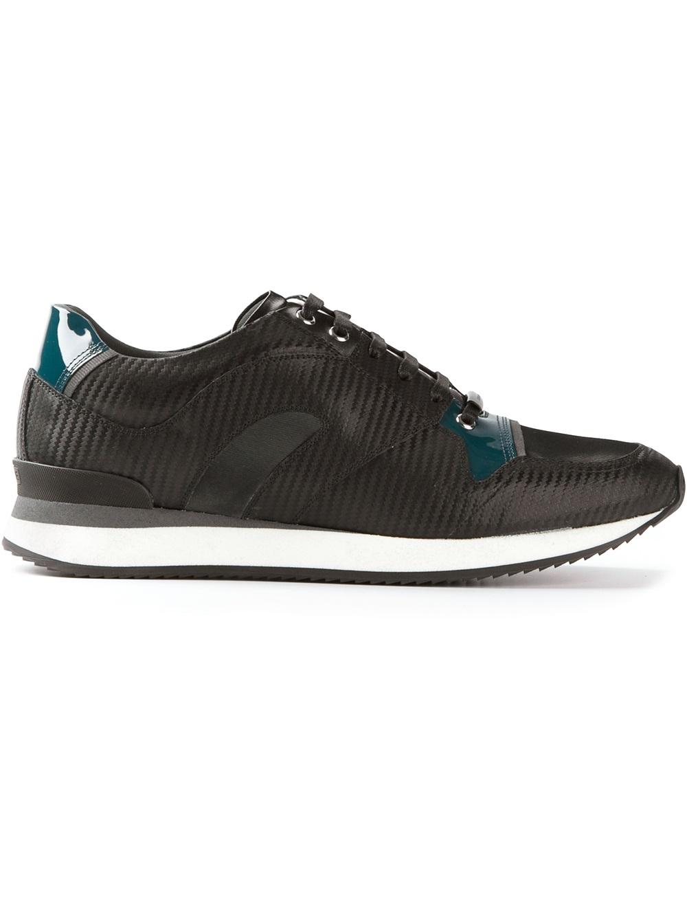 lyst dior homme retro running trainer in black for men rh lyst com