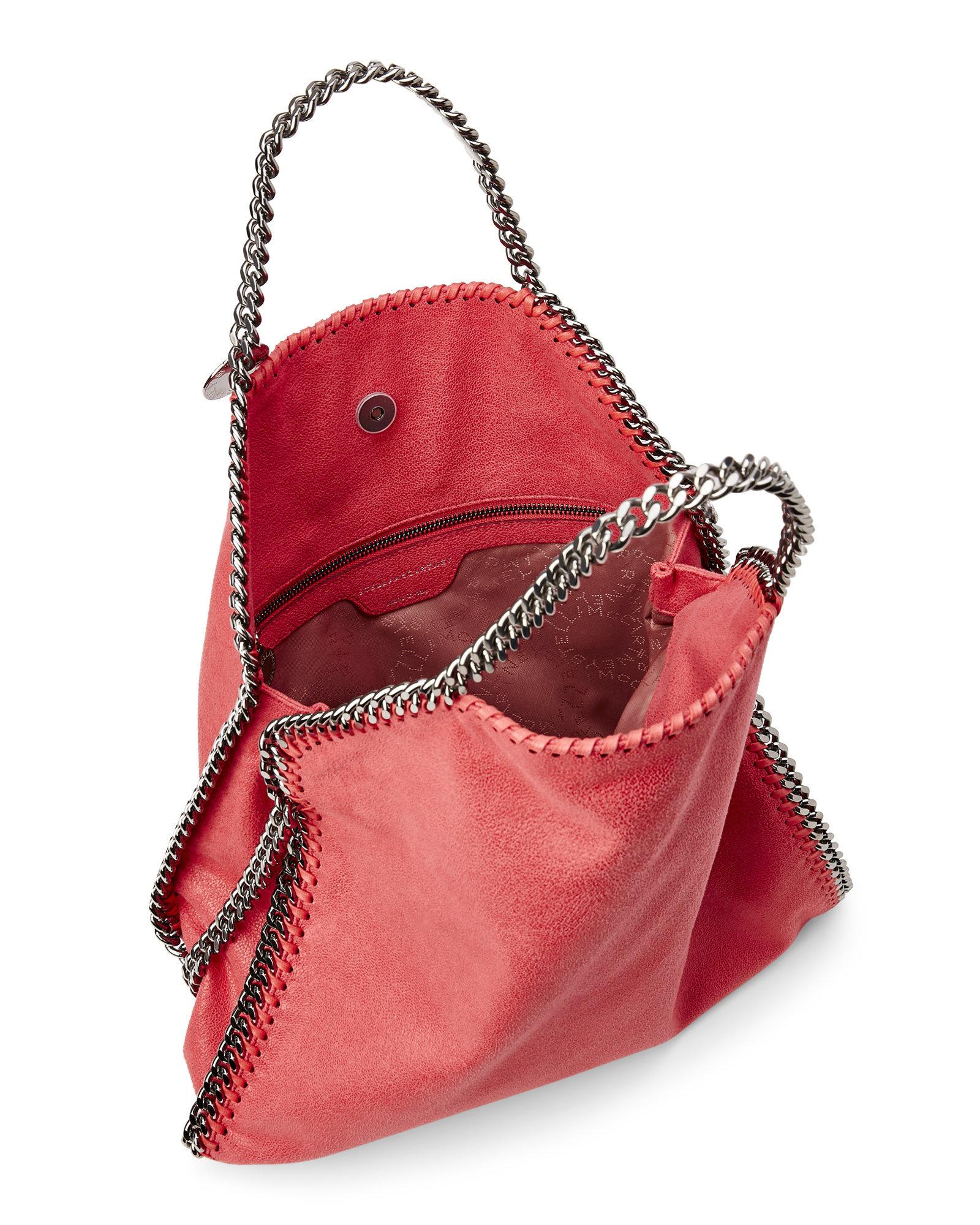 1e1fbea8b32ad Lyst - Stella McCartney Pink Fluo Shaggy Deer Falabella Fold-Over ...