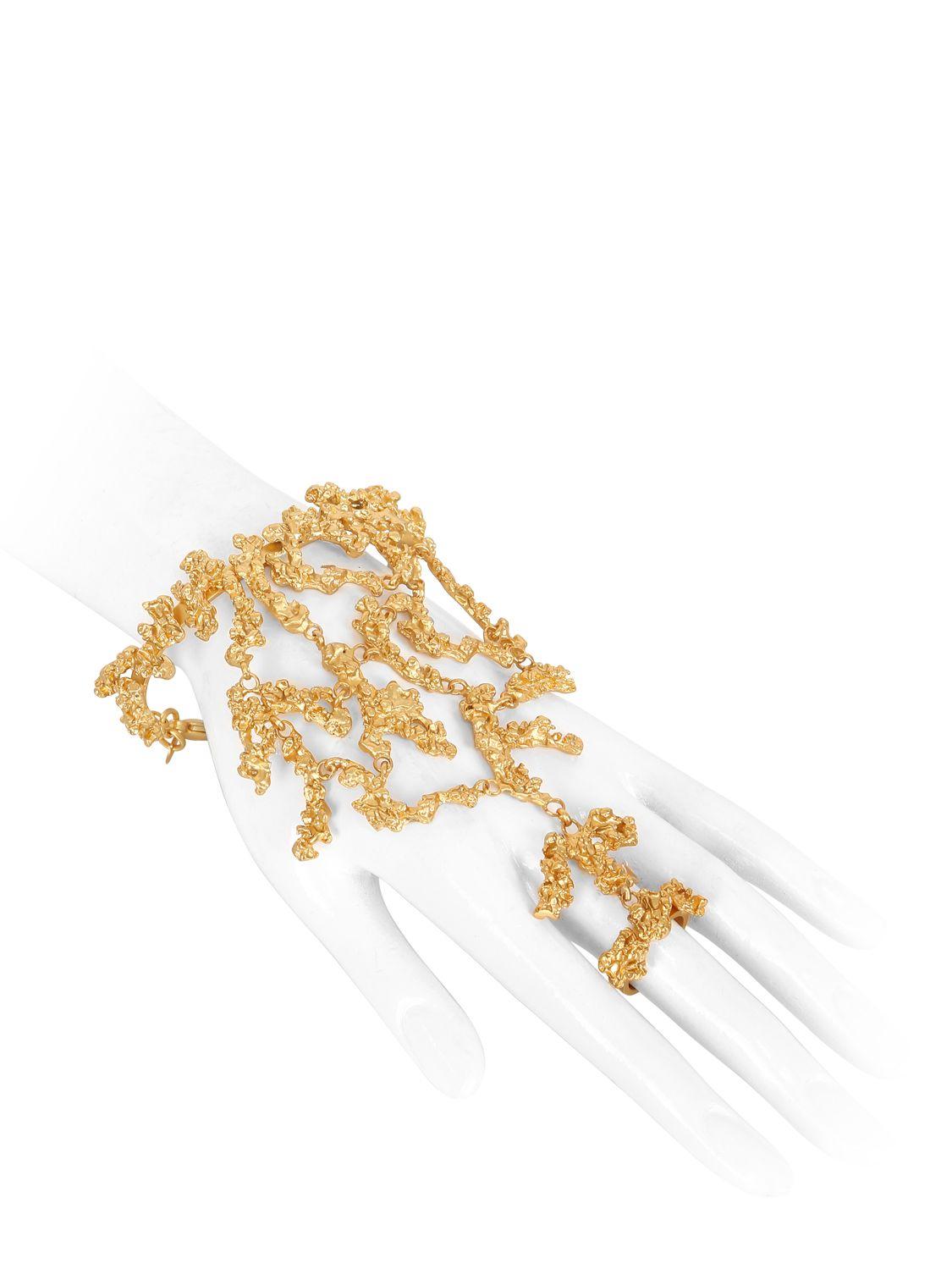 Giuseppe Zanotti Gold tone brass bracelet ARIEL NkxvX
