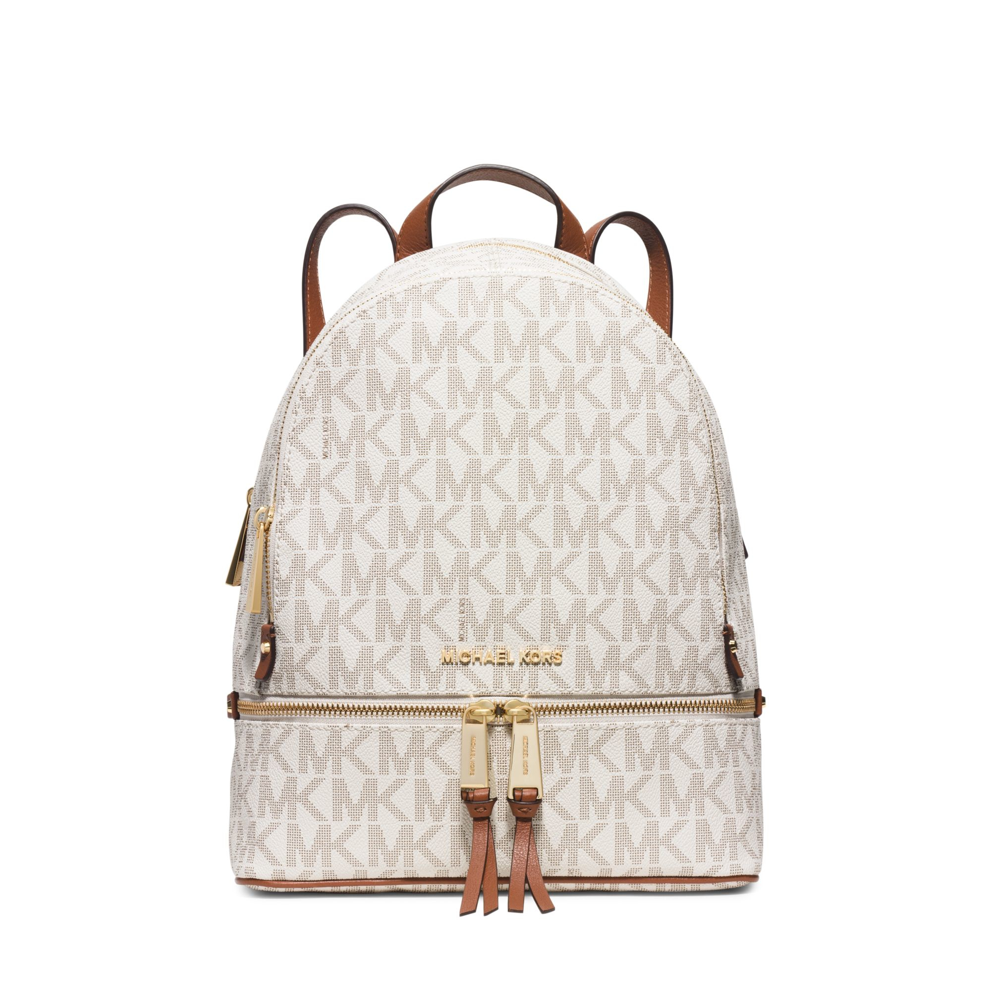 lyst michael kors rhea small backpack in white. Black Bedroom Furniture Sets. Home Design Ideas