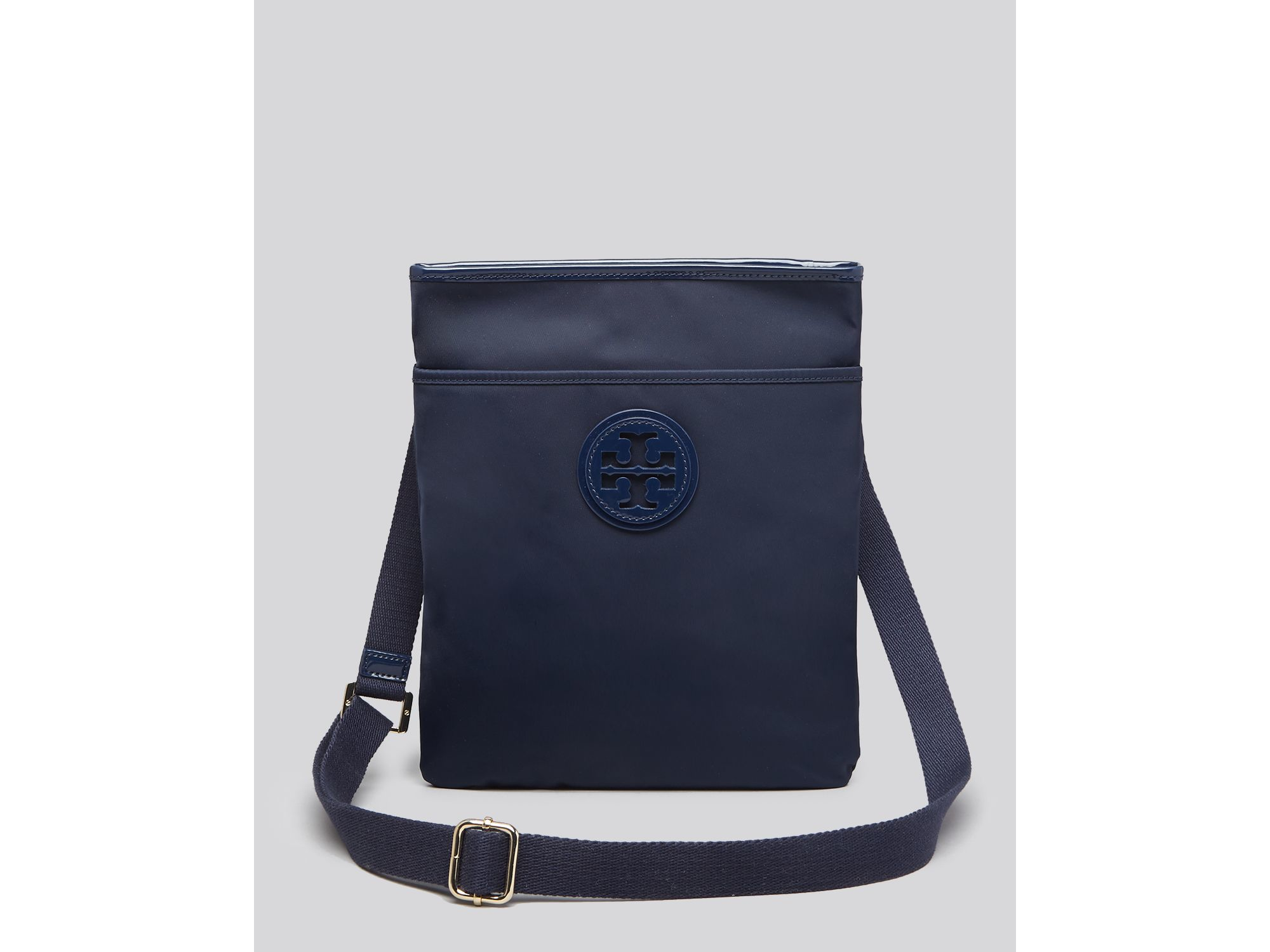 2edaab5844d4 Lyst Tory Burch Nylon Ella Swingpack Crossbody In Blue. Tory Burch Scout Nylon  Crossbody Bag Black