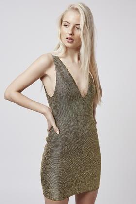 Dress topshop gold