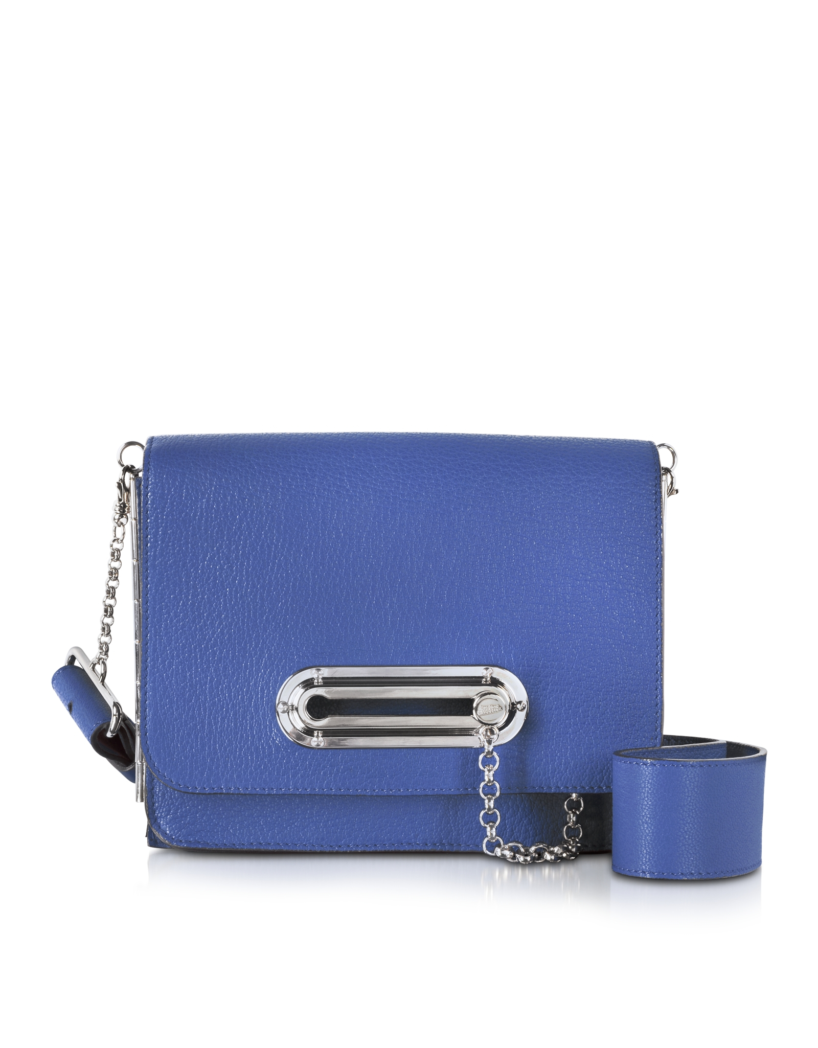 Jean Paul Gaultier Electric Blue Leather Crossbody Bag in Blue