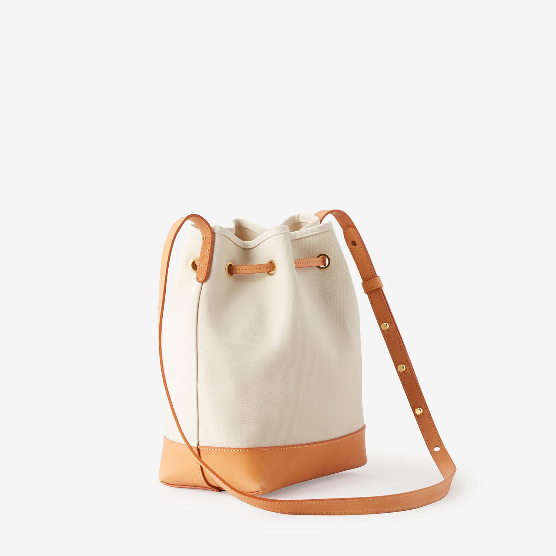 Mansur Gavriel Mini Canvas Bucket Bag In Beige Creme