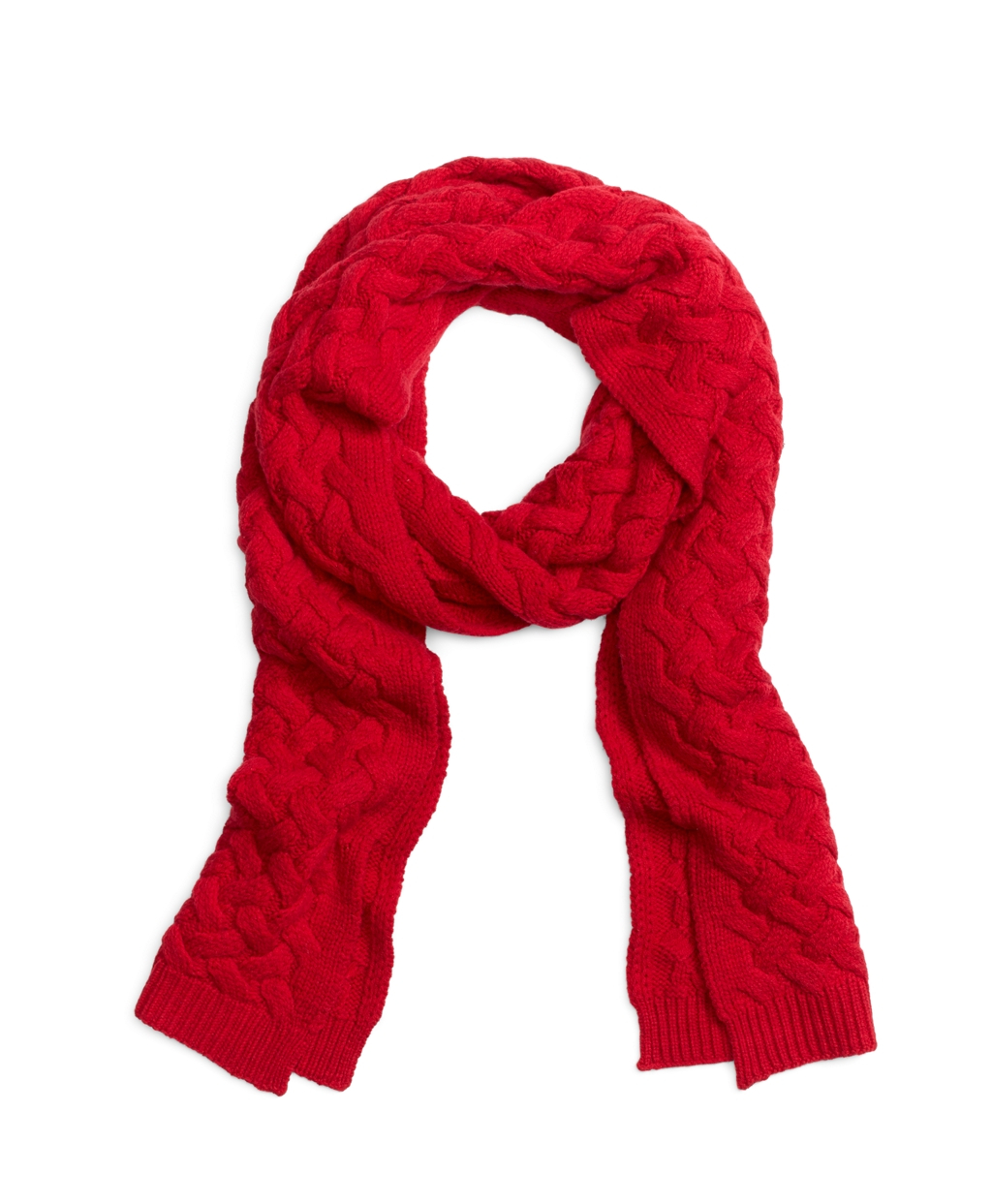 brothers wool cable knit scarf in lyst