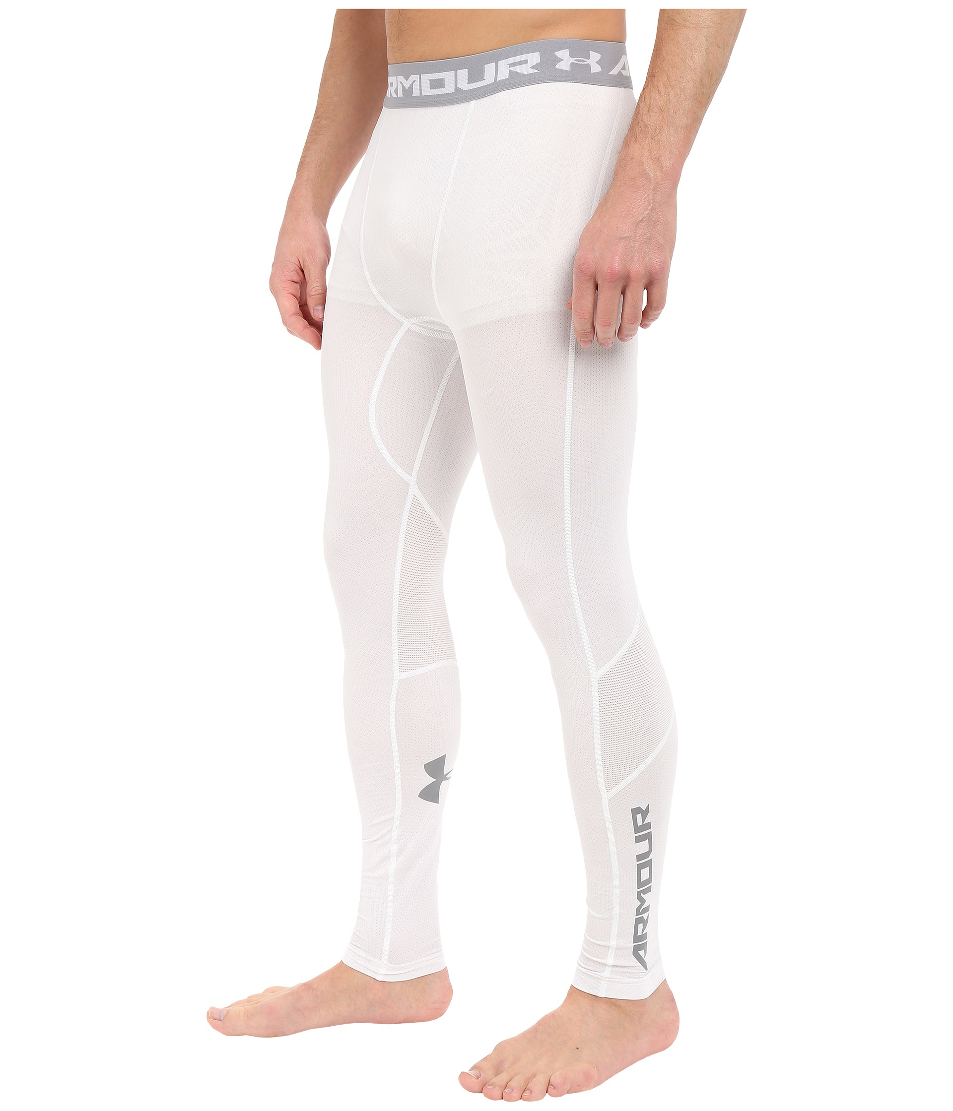 Lyst - Under Armour Ua Heatgearu00ae Coolswitch Compression Leggings in White for Men