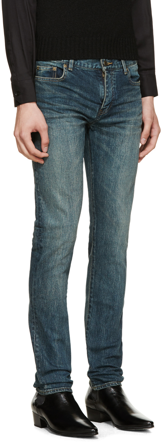 faded skinny jeans - Blue Saint Laurent Cheapest Price Clearance Best Place jsBGAvzm