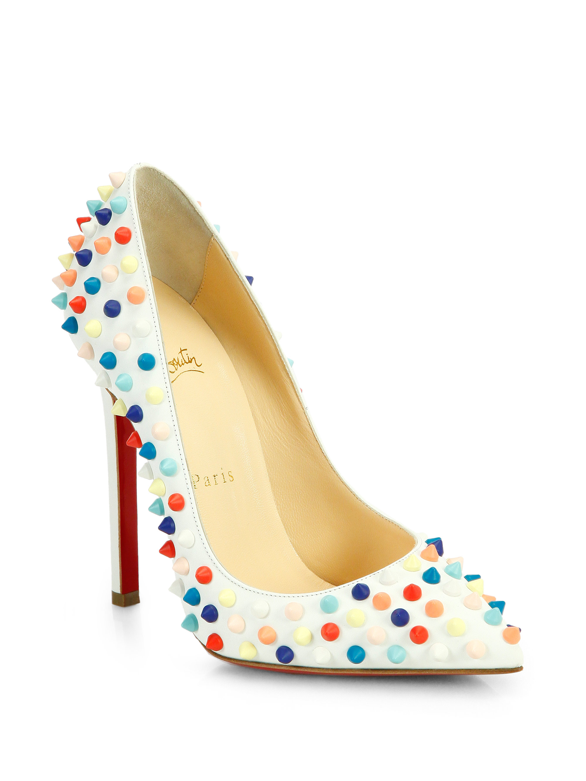 Lyst Christian Louboutin Pigalle 120 Multicolor Spiked
