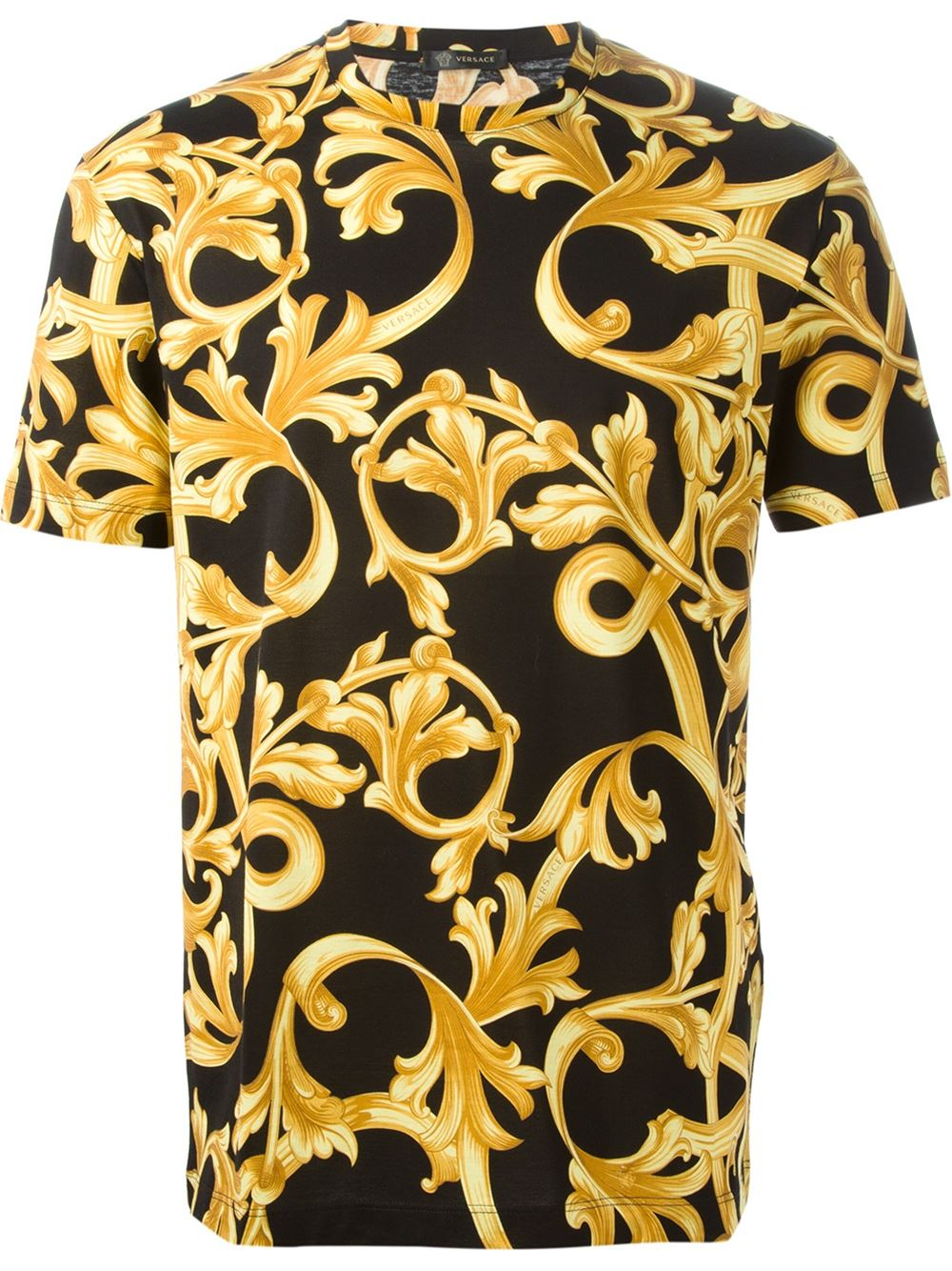 versace baroque t shirt in black for men lyst