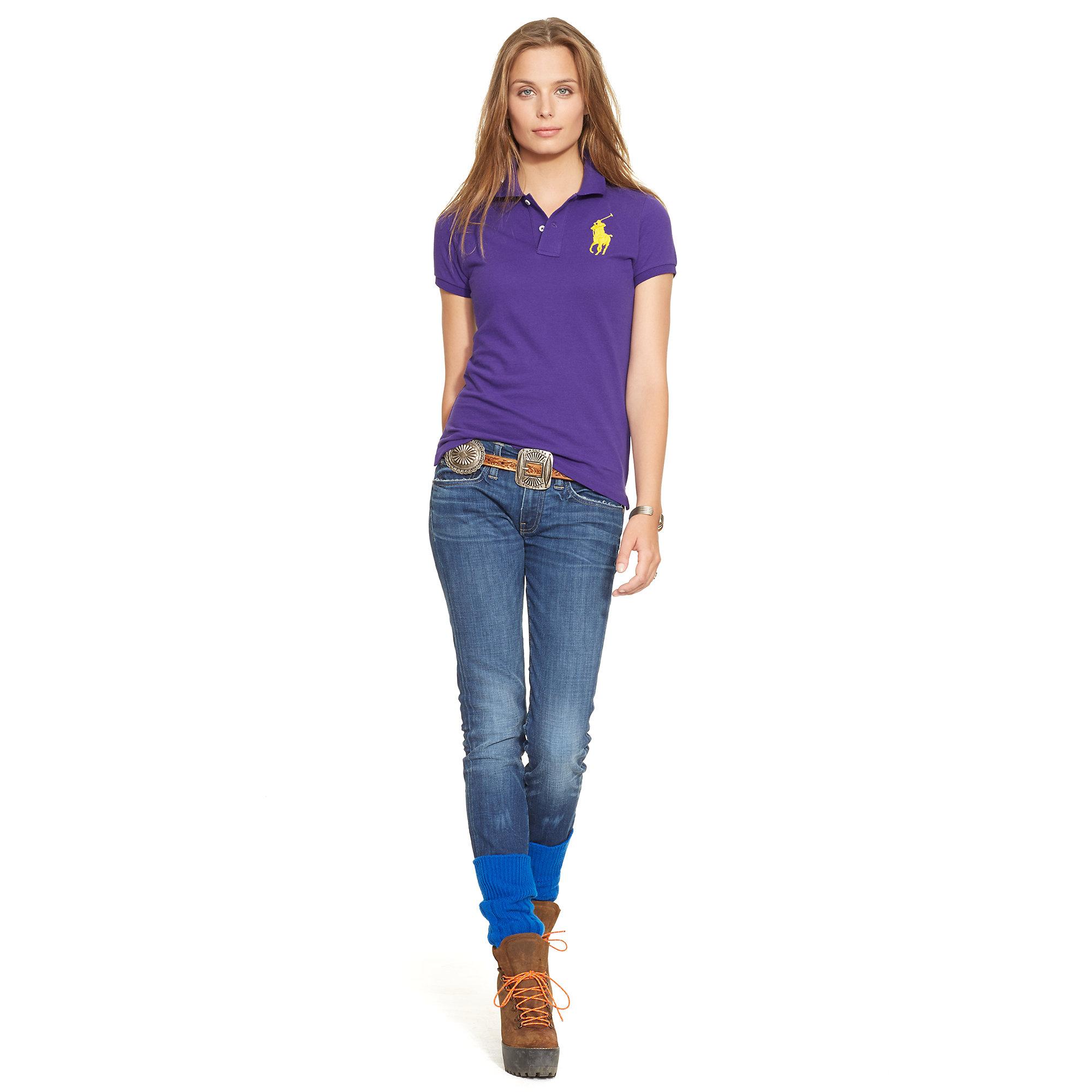 Polo Ralph Lauren | Purple Skinny-Fit Big Pony Polo Shirt | Lyst. View Fullscreen