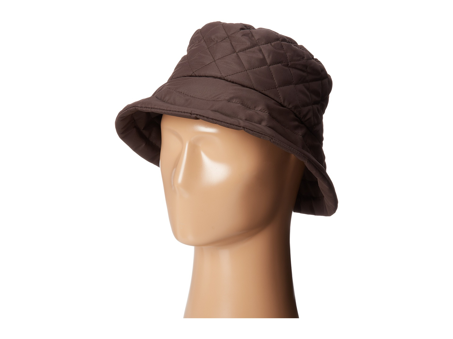 401a4b4e20e Lyst - Scala Quilted Rain Bucket Hat W  Fleece Lining in Brown