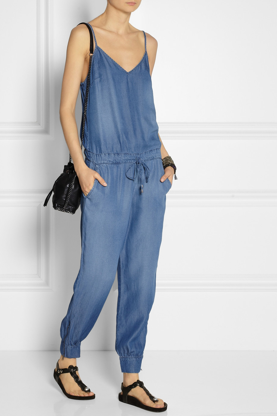 Lyst Splendid Washed Chambray Jumpsuit In Blue