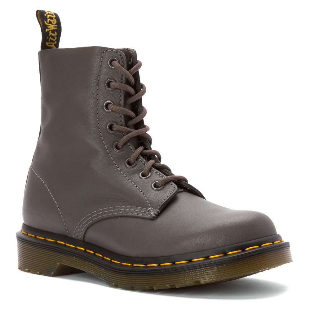 lyst dr martens pascal combat boots in gray. Black Bedroom Furniture Sets. Home Design Ideas