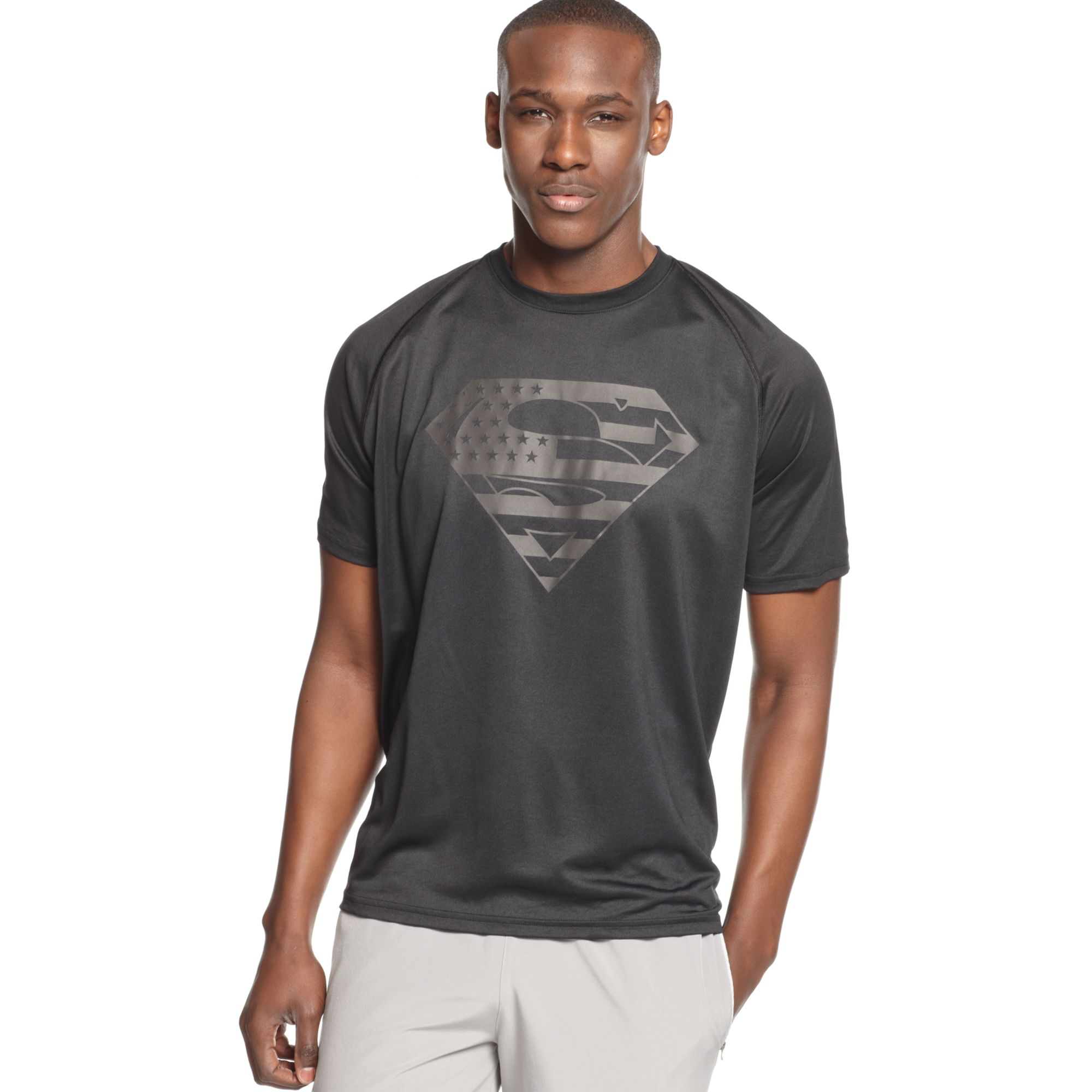 Under Armour Ae Usa Superman Tshirt In Black For Men Lyst