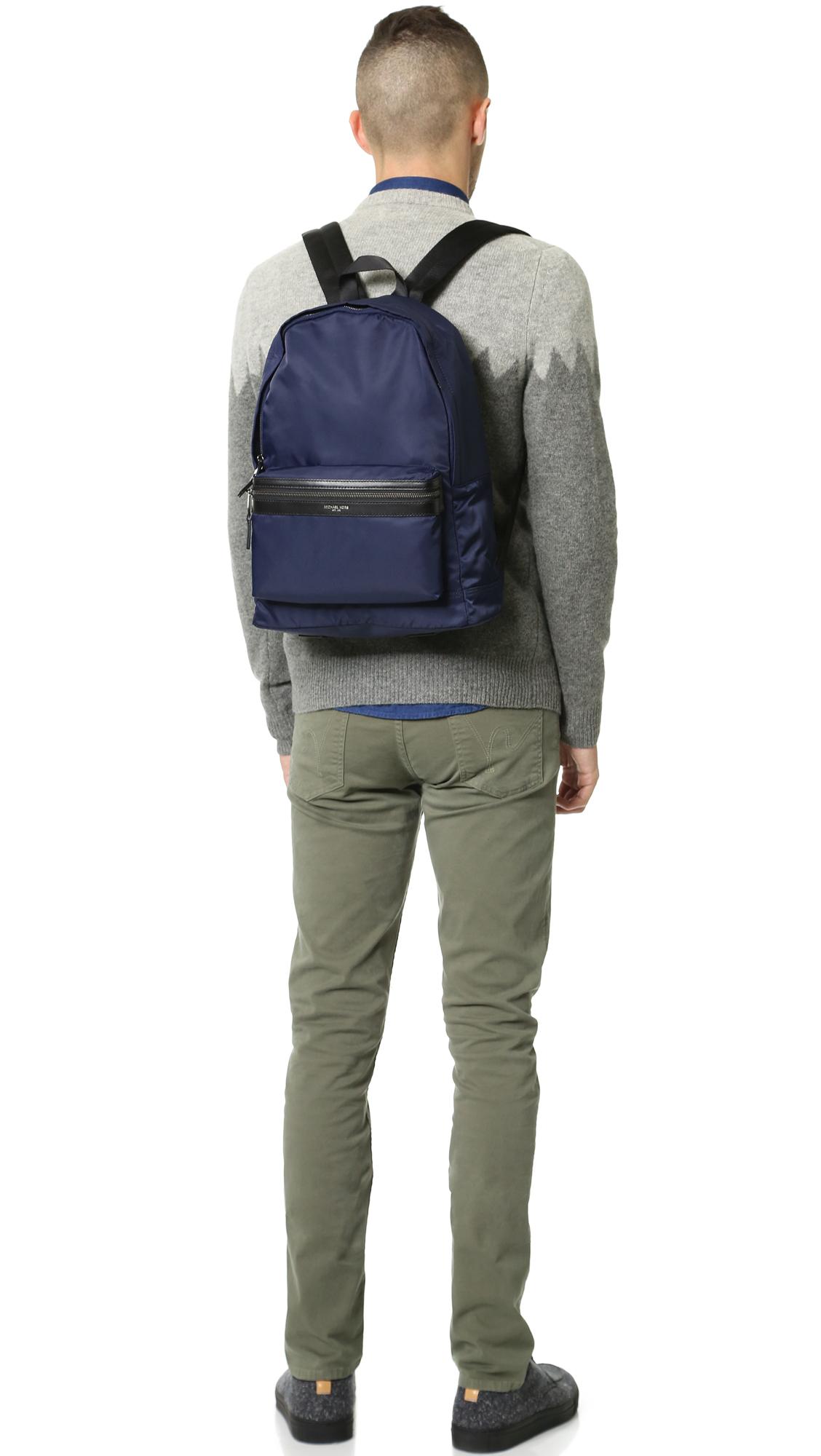f2028f18afdc Michael Kors Kent Nylon Backpack in Blue for Men - Lyst