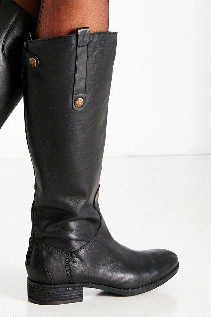 Sam Edelman Penny Tall Boot In Black Lyst