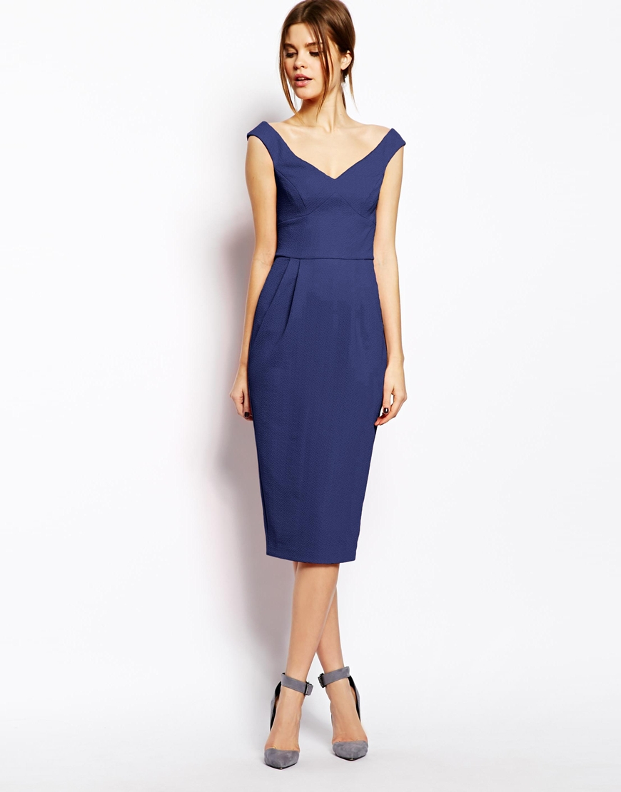 Navy Blue Pencil Dress  Cocktail Dresses 2016