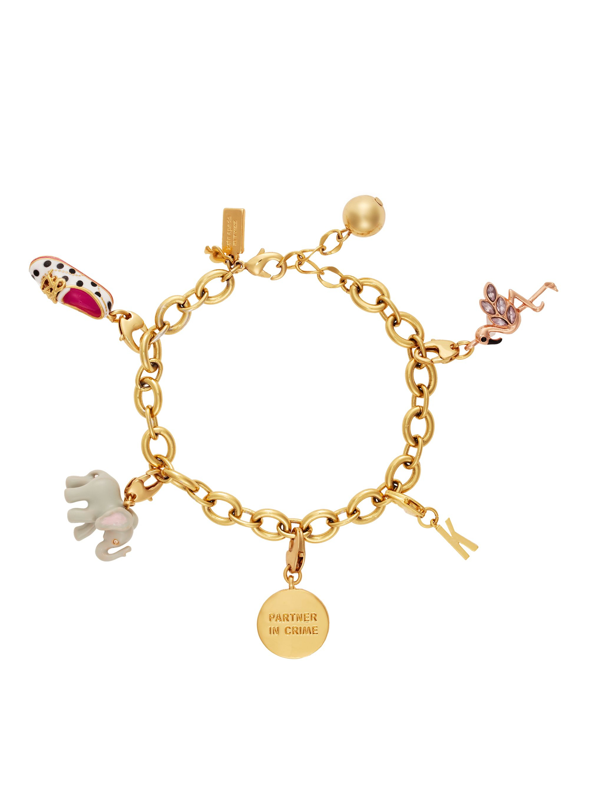 Kate Spade Flamingo Charm In Pink Pink Multi Lyst