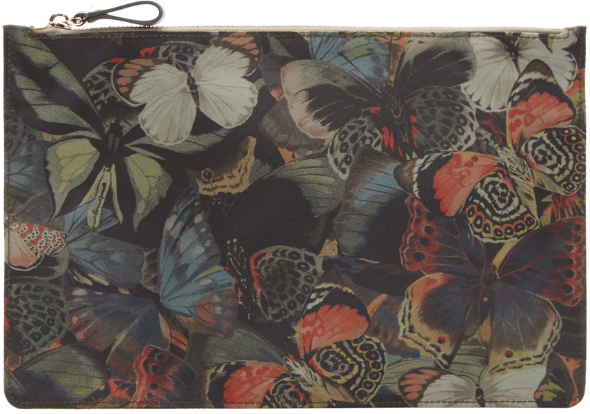 Valentino Multicolor Butterfly Camouflage Large