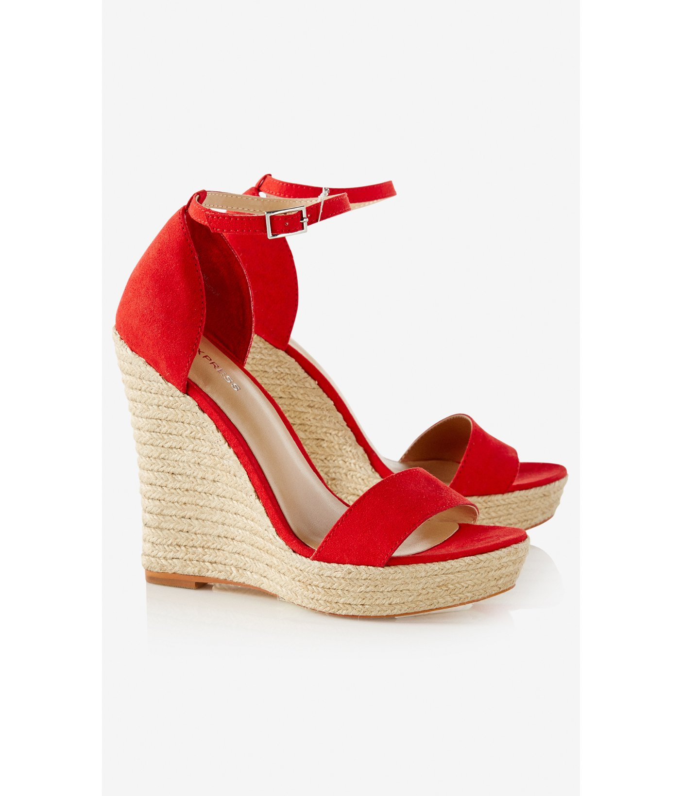 0cd1a48f1c1 Lyst - Express Espadrille Wedge Sandal in Red