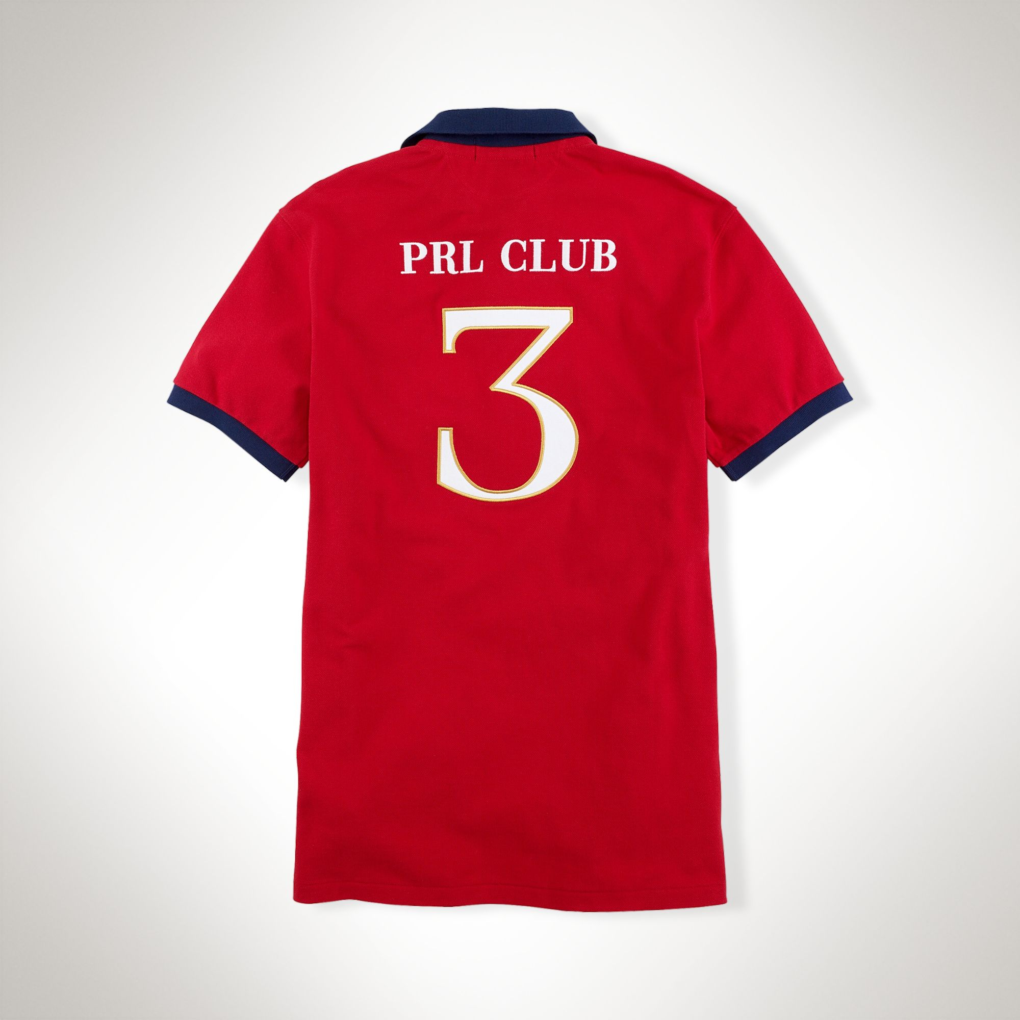 Polo Ralph Lauren Customfit Prl Club Polo In Red For Men