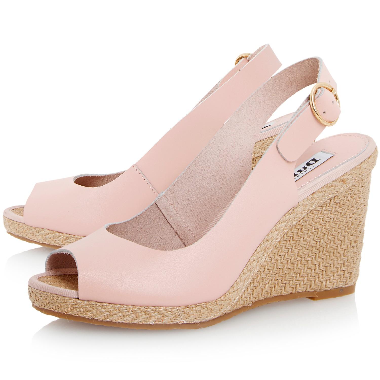 affdb97ce8b Dune Gleeful Peep Toe Espadrille Slingback Wedge Sandals in Pink - Lyst