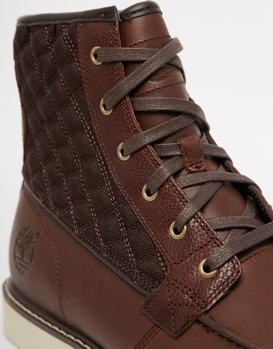 Lyst Timberland Newmarket Moc Toe Boots In Brown For Men