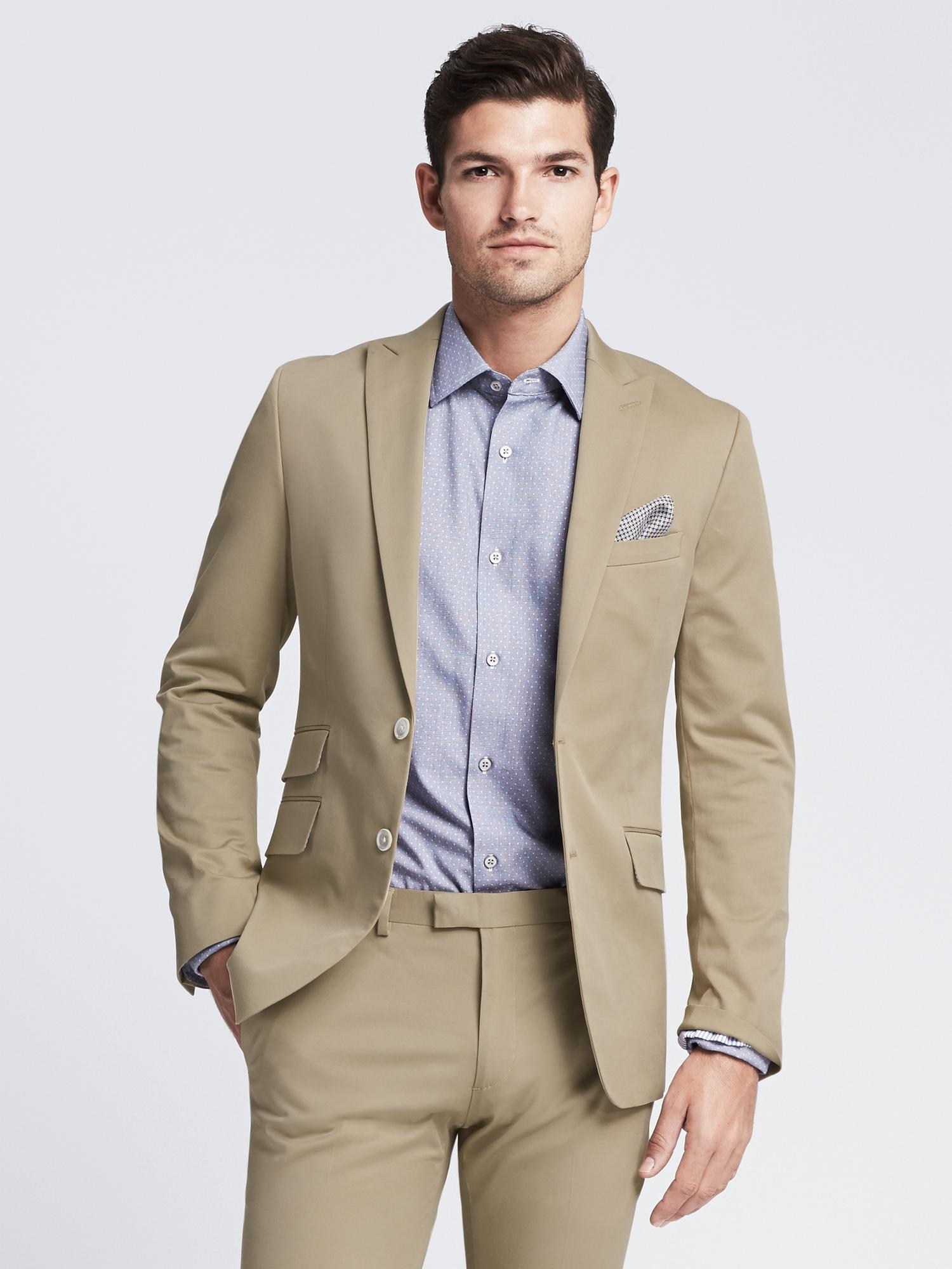 138cb5aaff43 Lyst - Banana Republic Modern Slim-fit Chino Suit Jacket in Natural ...