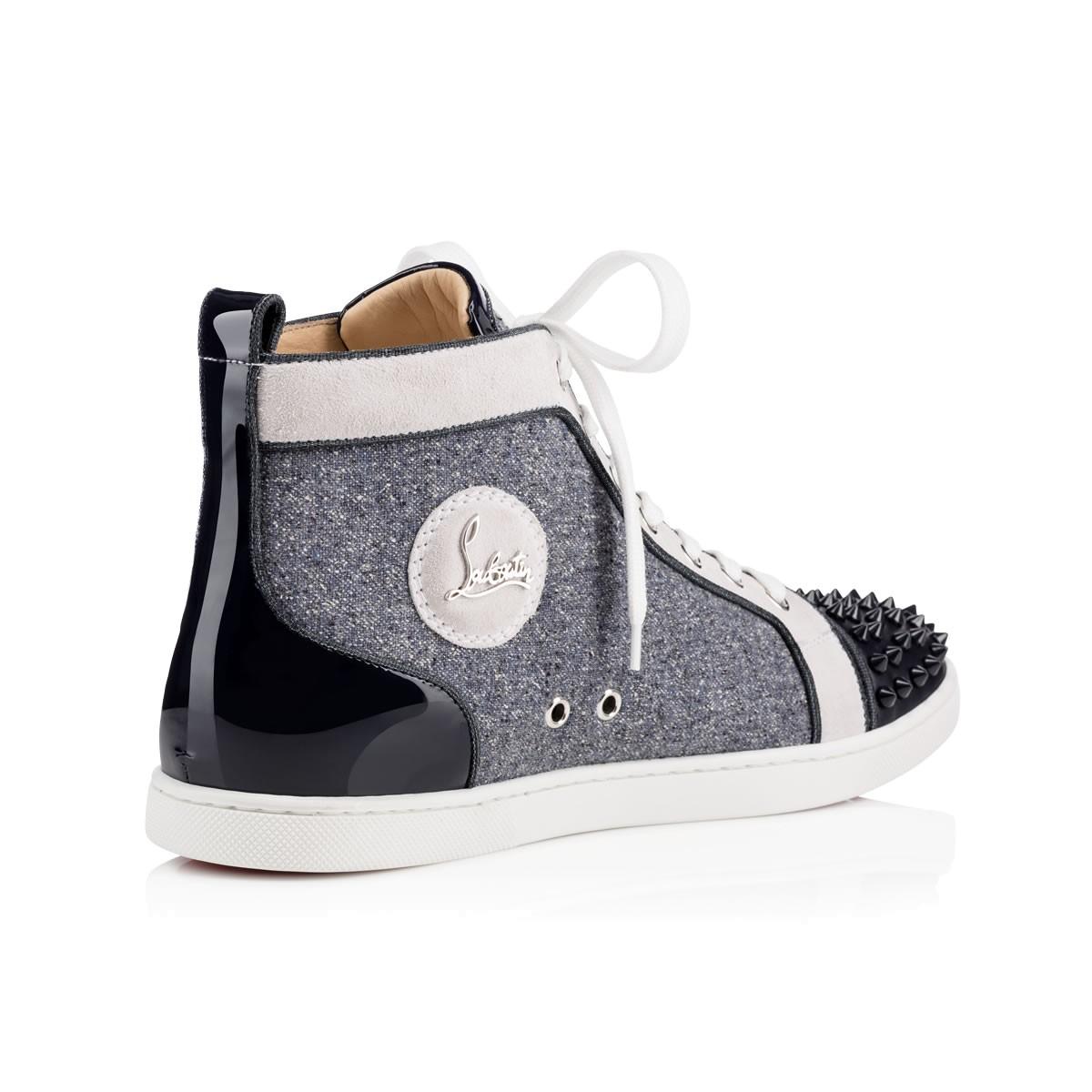 48520a15da8e ... uk men shoes nazapunta orlato flat calf jeans christian louboutin lyst  christian louboutin bip bip orlato
