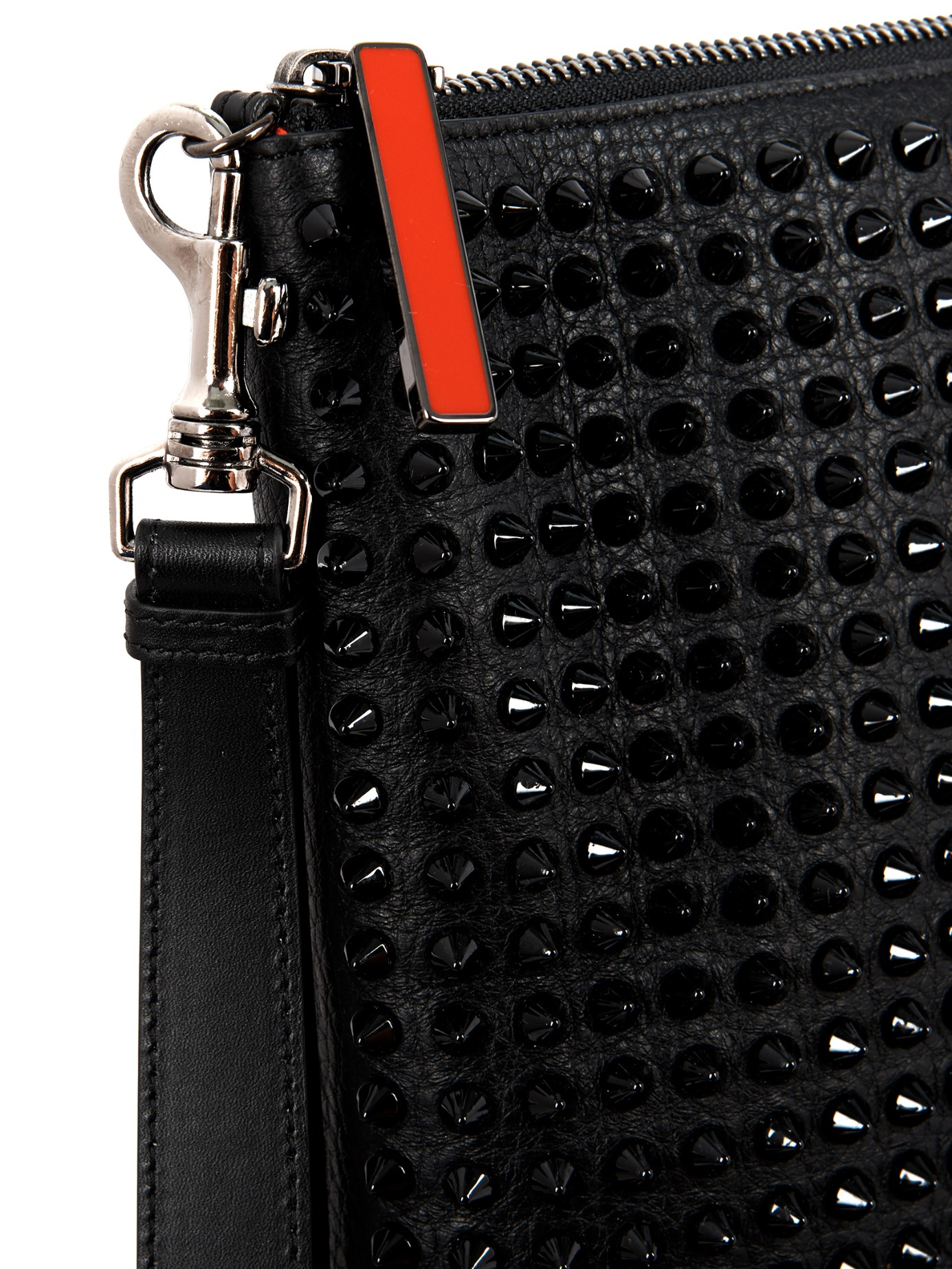 19f663e5702d2 Christian Louboutin Peter Stud-Embellished Leather Pouch in Black ...