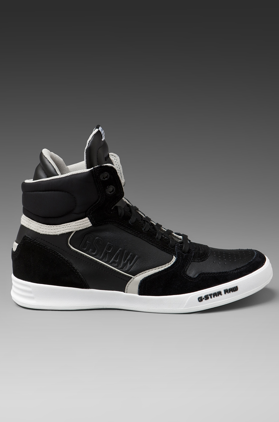 g star raw yard pyro hi top sneaker in black for men lyst. Black Bedroom Furniture Sets. Home Design Ideas