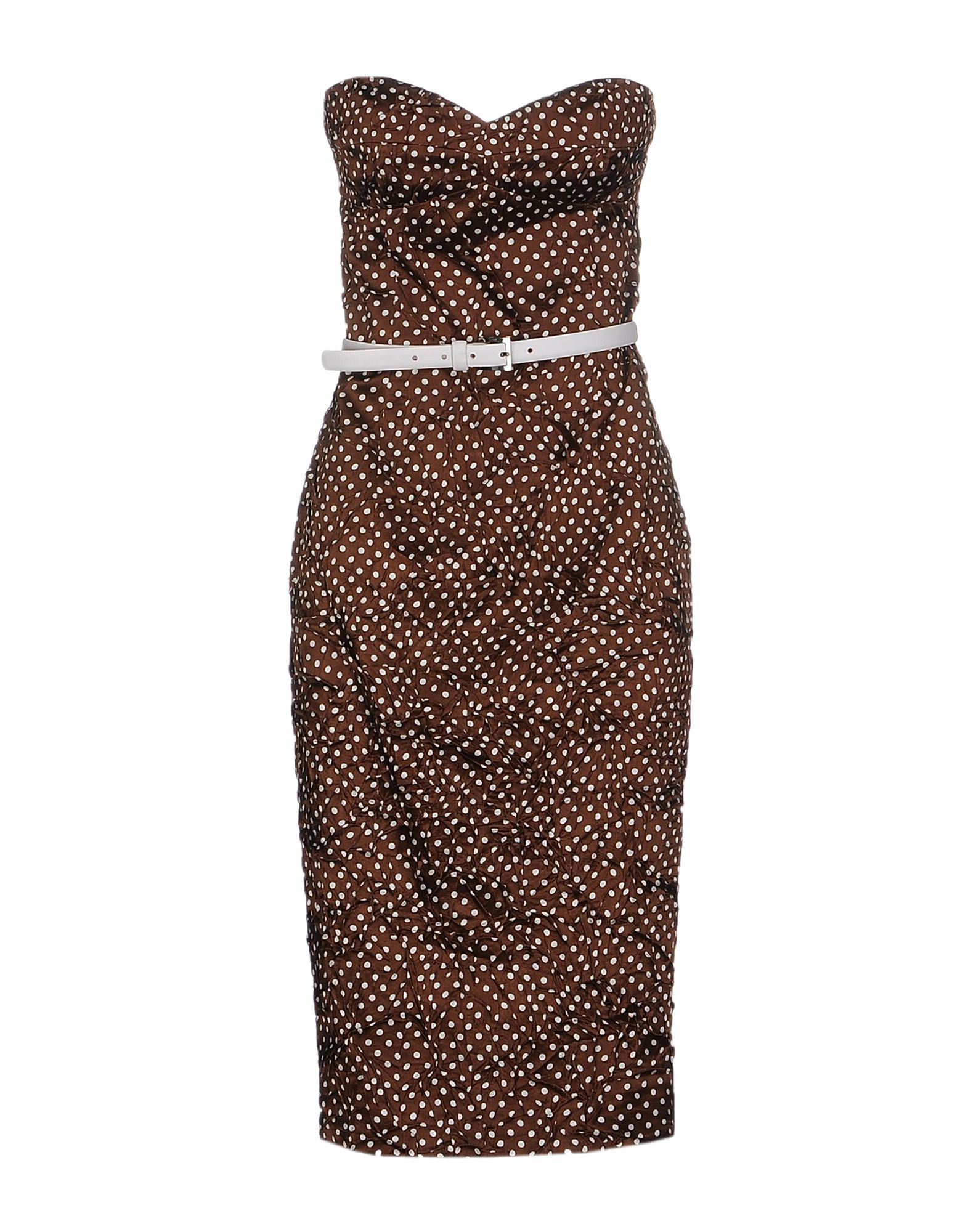 lyst michael kors knee length dress in brown. Black Bedroom Furniture Sets. Home Design Ideas
