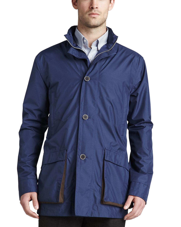 Peter millar Newport Lightweight Jacket in Blue for Men | Lyst
