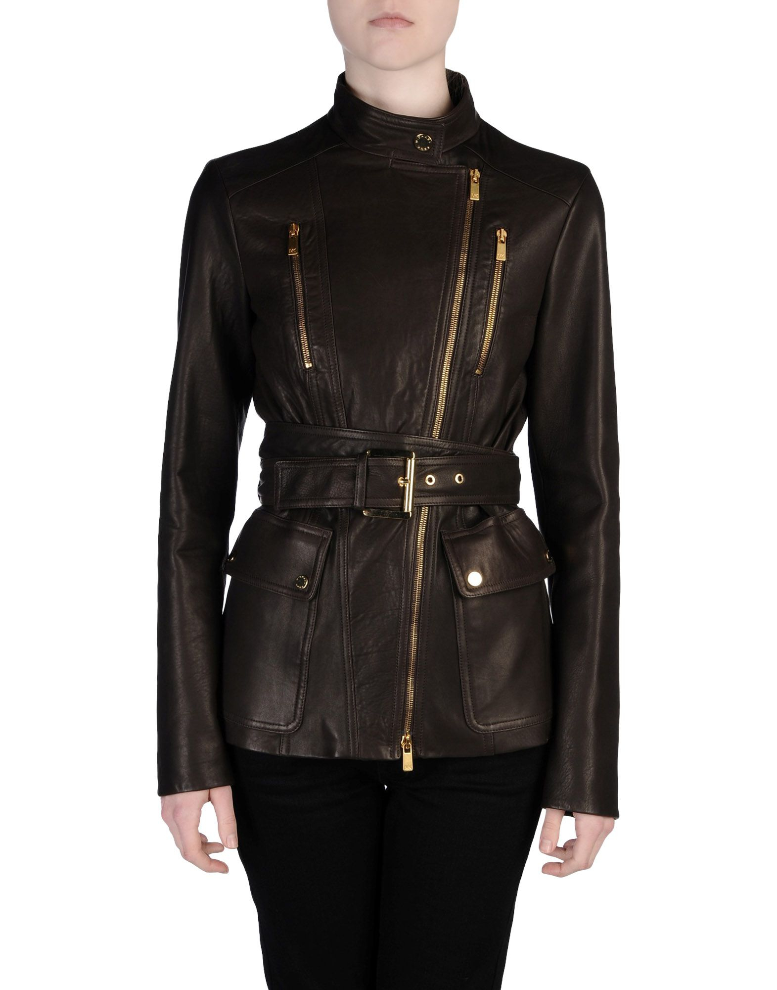 michael kors jacket in brown dark brown lyst. Black Bedroom Furniture Sets. Home Design Ideas
