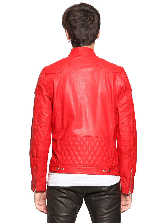 Diesel red leather jacket