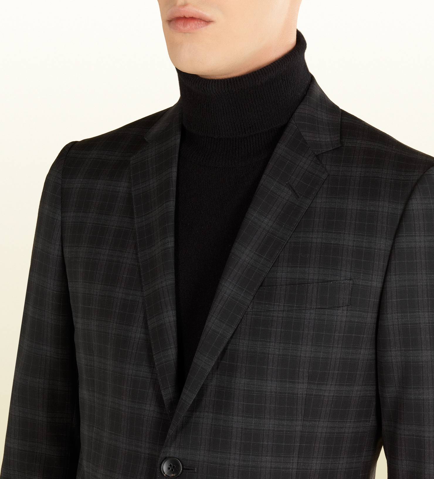 Gucci Check Print Wool Dylan 60 Suit In Black For Men Lyst