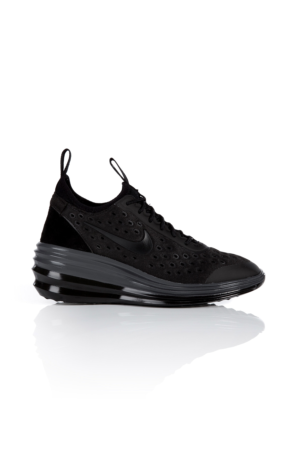 the best attitude 6fb58 8af1b ... coupon for lyst nike lunarelite sky hi wedge sneakers in black 9476b  84de8