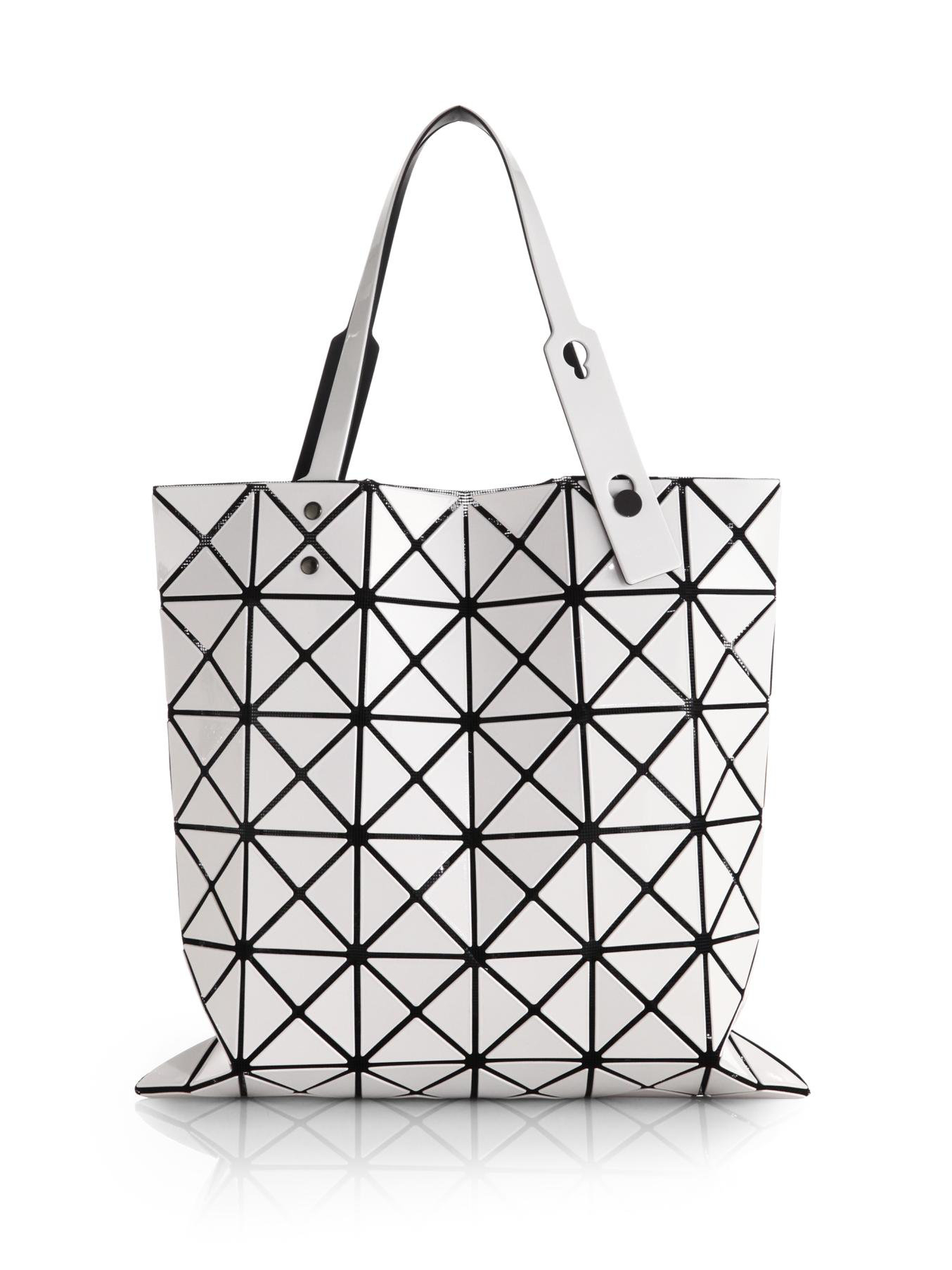 Lyst - Bao Bao Issey Miyake Lucent Basic Faux-Leather Tote in White 84dd68bbd2205
