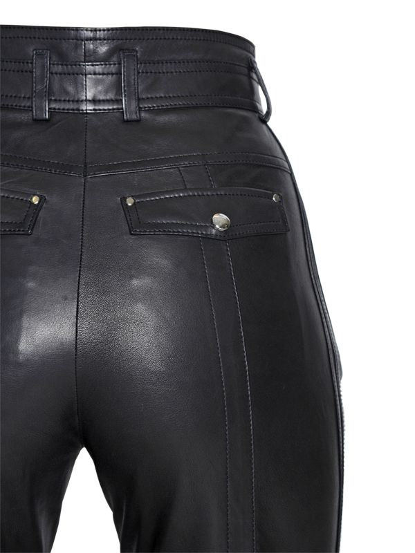 Lyst Diesel Black Gold High Waisted Nappa Leather Pants