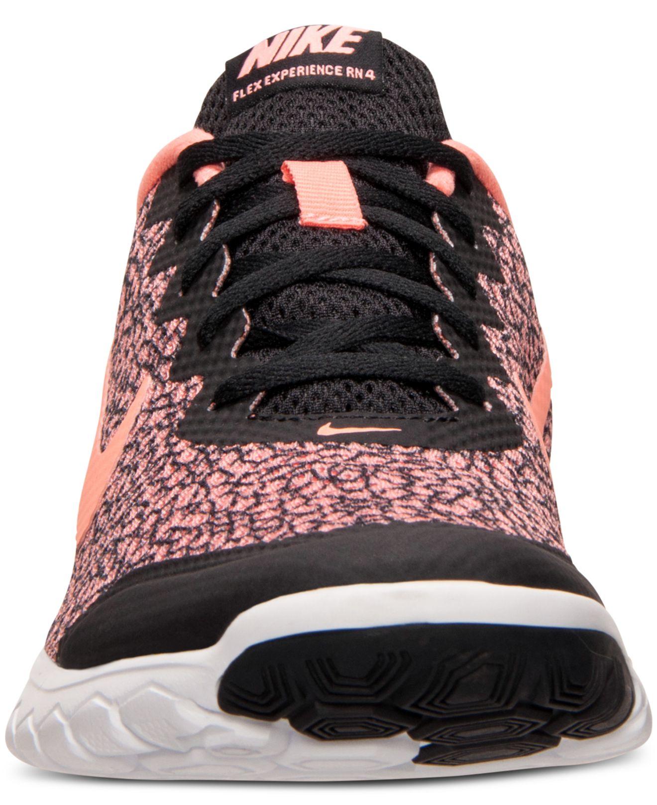 6b1cdff248355 Lyst - Nike Women s Flex Experience Run 4 Premium Running Sneakers ...