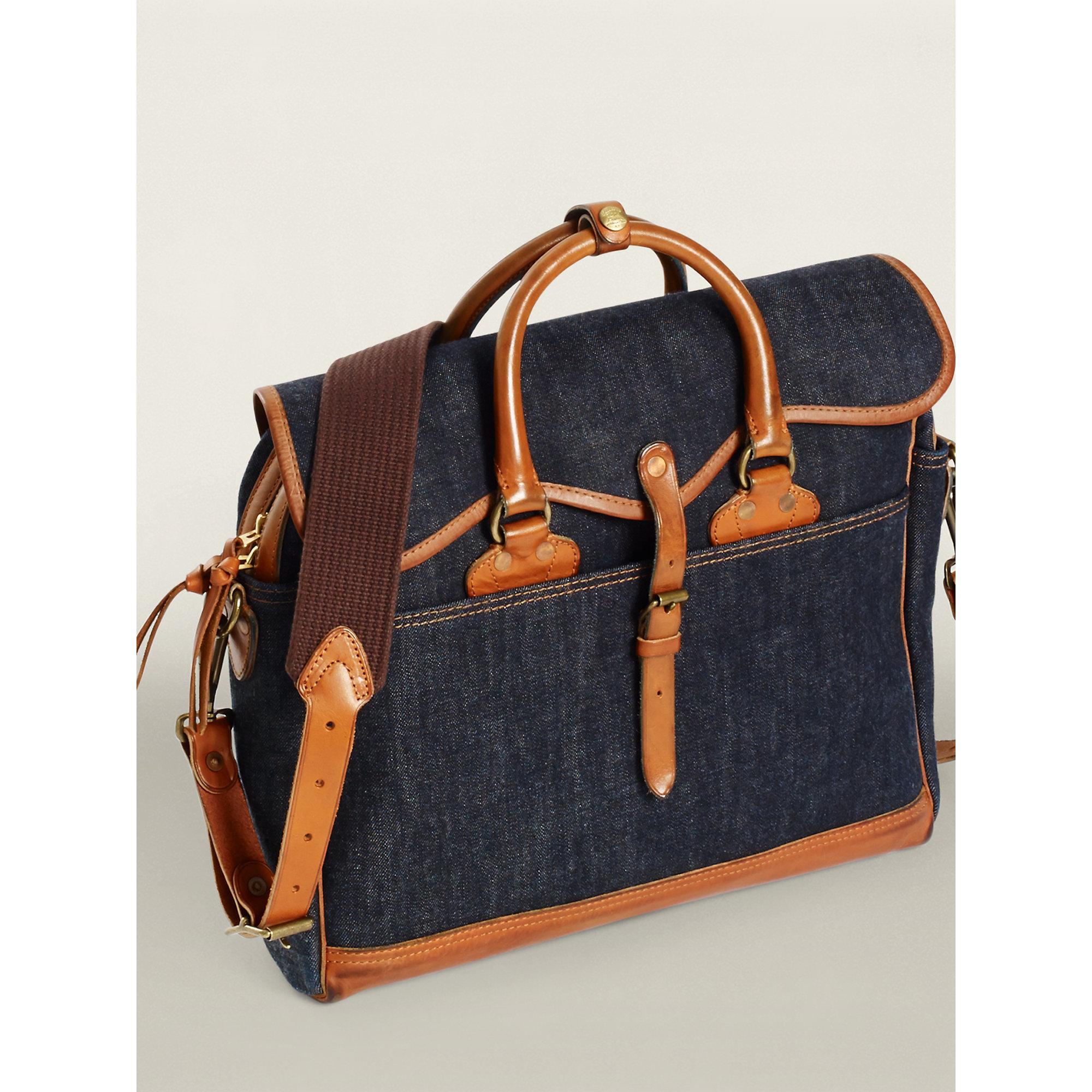 98a8a7a6d2 Lyst - RRL Emerson Shoulder Bag in Blue for Men