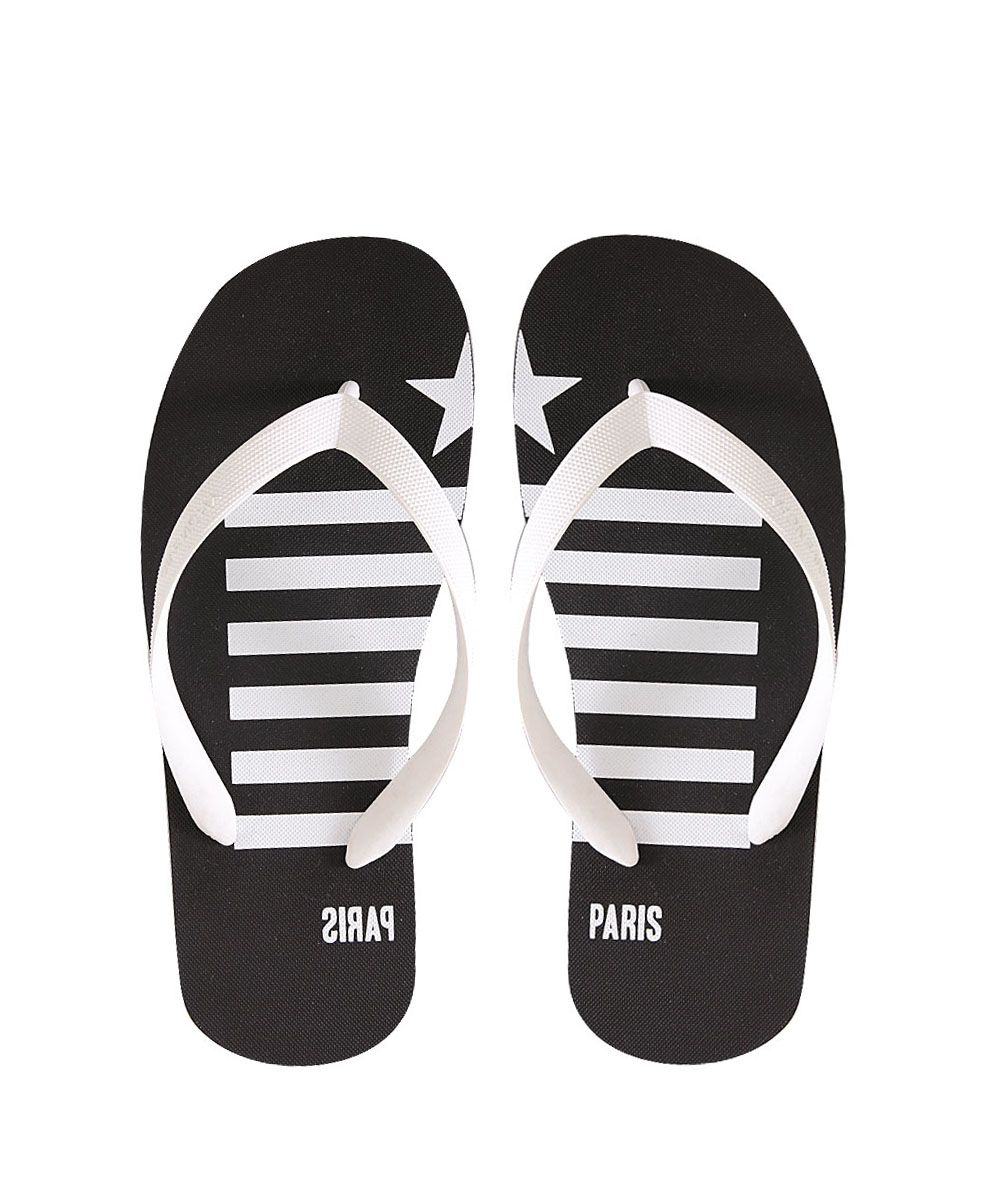 Givenchy Rubber Flip-Flops With Paris Print In White For -6948