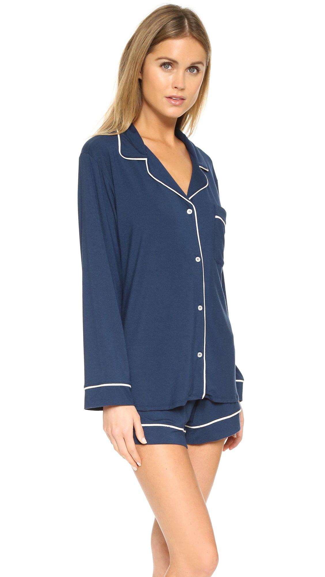 e240e8362 Eberjey Gisele Long Sleeve Pajama Set in Blue - Lyst