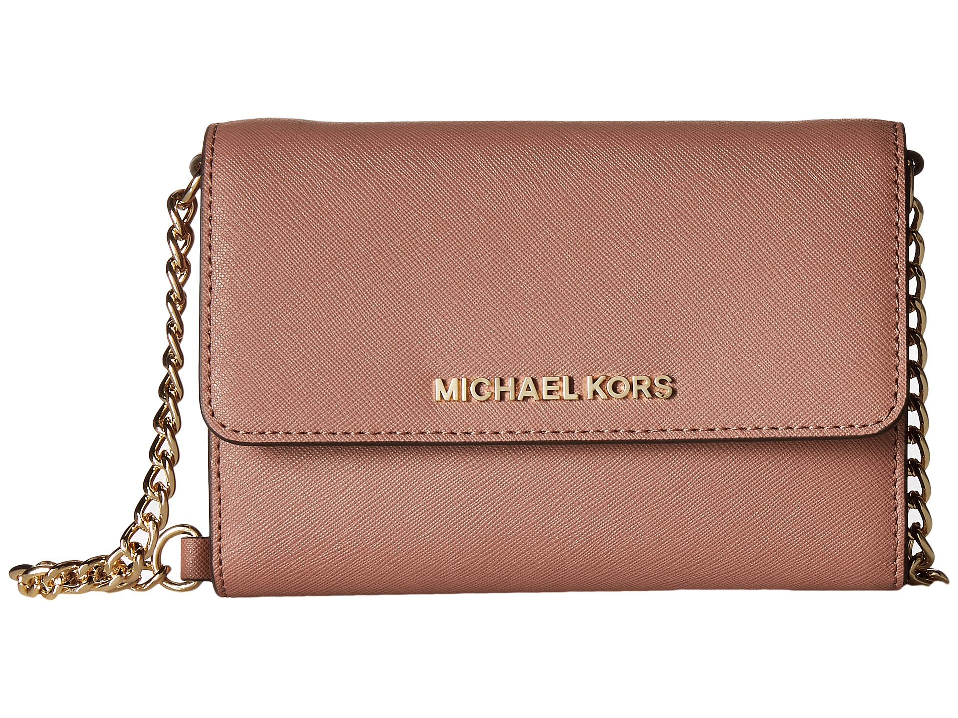 642a1d8d253b MICHAEL Michael Kors Jet Set Travel Large Phone Crossbody in Pink - Lyst