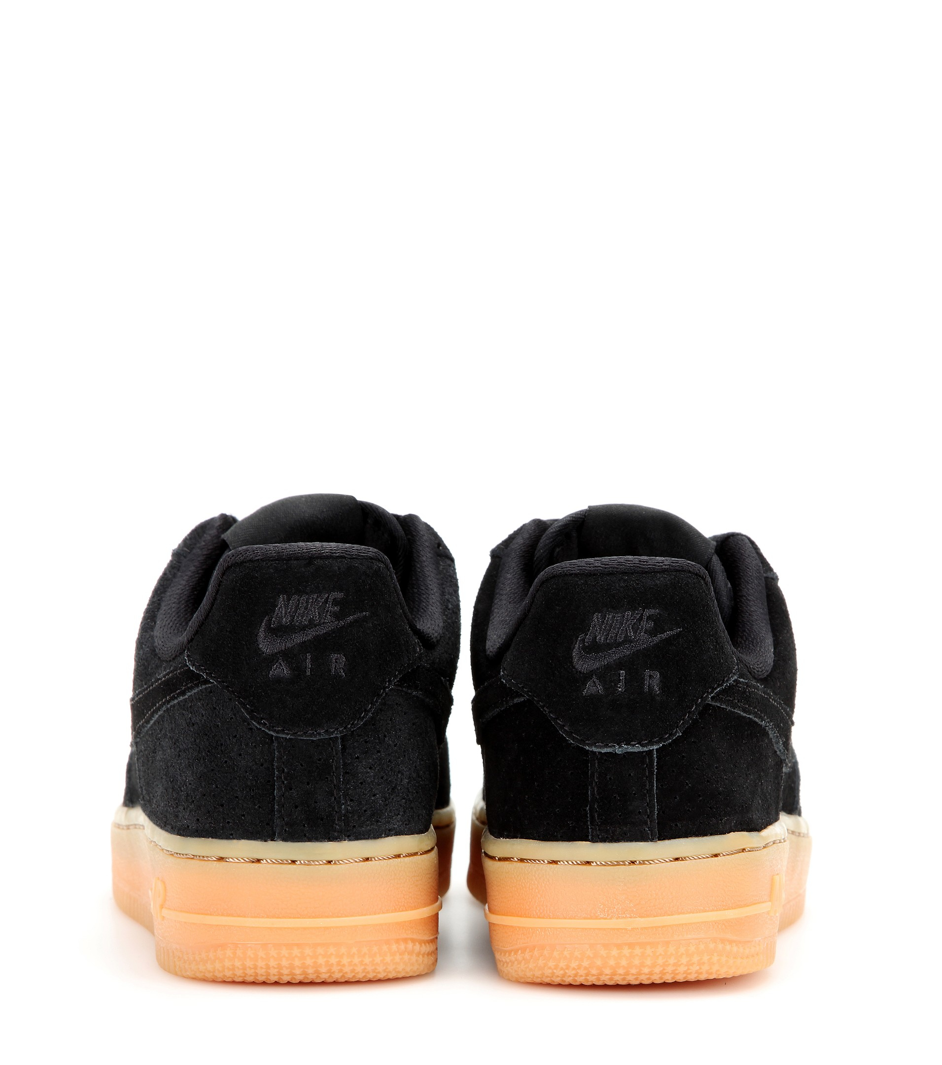 lyst nike air force 1 suede sneakers in black